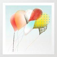 Balloons Luftballons Bal… Art Print
