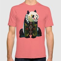 panda silver Mens Fitted Tee Pomegranate SMALL