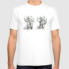 head and neck SMALL Mens Fitted Tee White