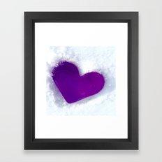 Mr. Snow Heart Framed Art Print