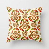 Portuguese Flag Pattern Throw Pillow