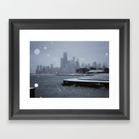 Chicago In The Snow Framed Art Print