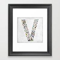 letter V - Nintendo Classics Framed Art Print
