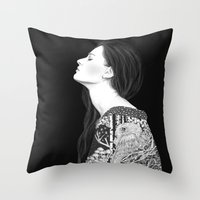 Forest And Night In Blac… Throw Pillow