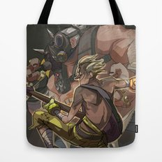 Death Growls and Punching The Guitar Tote Bag