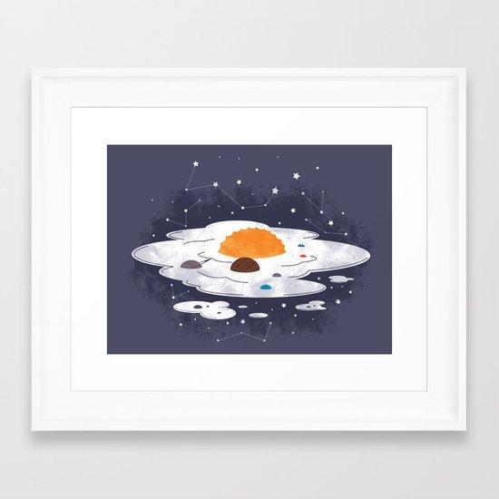 egg dimension Framed Art Print