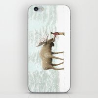 Winter Moose iPhone & iPod Skin