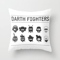 Darth Fighters Throw Pillow