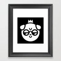 Sarcastic Dog Framed Art Print