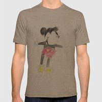 Childhood Drawings (Mickey) Mens Fitted Tee Tri-Coffee SMALL