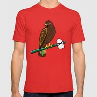 Blackhawk II Mens Fitted Tee Red SMALL