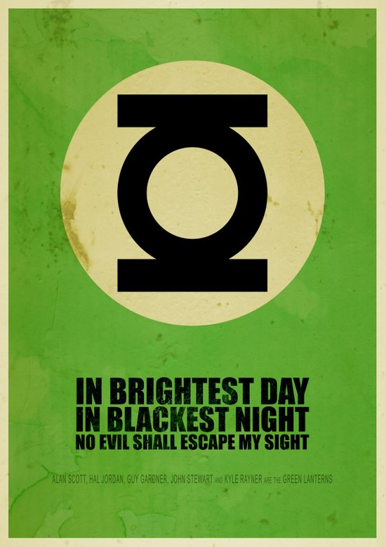 Green Lantern (Super Minimalist series) Art Print