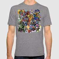 Marvel MashUP Mens Fitted Tee Tri-Grey SMALL
