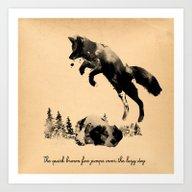 Art Print featuring The Quick Brown Fox Jump… by Robert Farkas