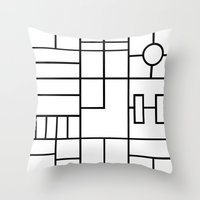 PS Grid Throw Pillow