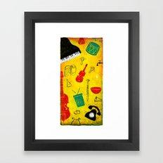 Music and Noise Framed Art Print