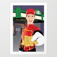 Tampa Theater Movie Usher Art Print