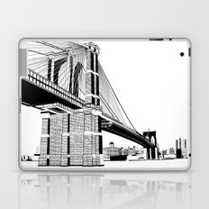 Brooklyn Bridge Black and White Laptop & iPad Skin