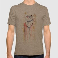 skull drips  Mens Fitted Tee Tri-Coffee SMALL