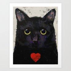 Love Cat Art Print