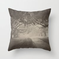 Avenue of Oaks Throw Pillow