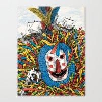 Minehead Hobby Horse Canvas Print