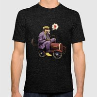 Barkin' Down The Highway… Mens Fitted Tee Tri-Black SMALL