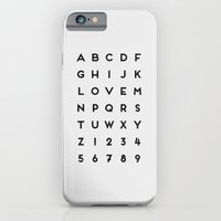 Letter Love - White iPhone 6 Slim Case