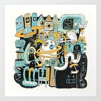 Welcome my son, welcome to the machine Art Print