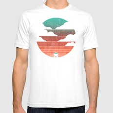 Go West SMALL White Mens Fitted Tee