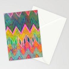 Tribal Chevron - Yellow Stationery Cards