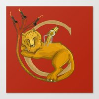 Chimera in Red Canvas Print