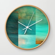 Fantasy Oceans Collage Wall Clock