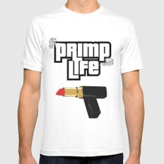 Primp Life Mens Fitted Tee White SMALL