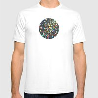 Sparkles: Paint Daubs Mens Fitted Tee White SMALL