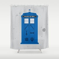The Tardis Got Some Ink Shower Curtain