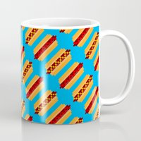 Pixel Hot Dogs Mug
