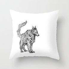 Clint EastWolf Throw Pillow