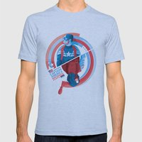 The Winter Soldier Mens Fitted Tee Athletic Blue SMALL