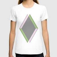 Grey Womens Fitted Tee White SMALL