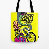 Lotus BMX Tote Bag