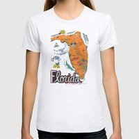 FLORIDA Womens Fitted Tee Ash Grey SMALL