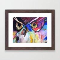 Colorful Owl Framed Art Print