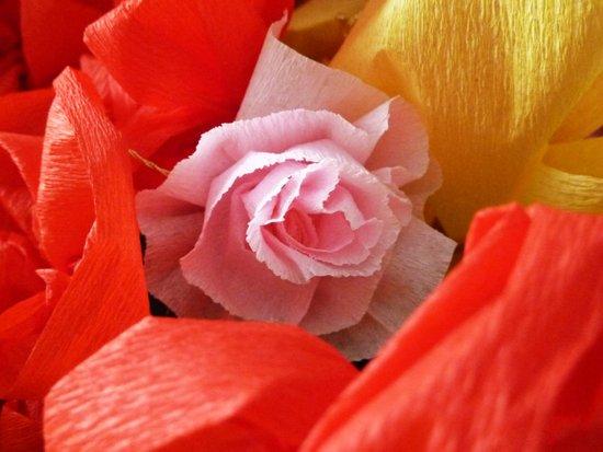 Paper handmade flowers Art Print