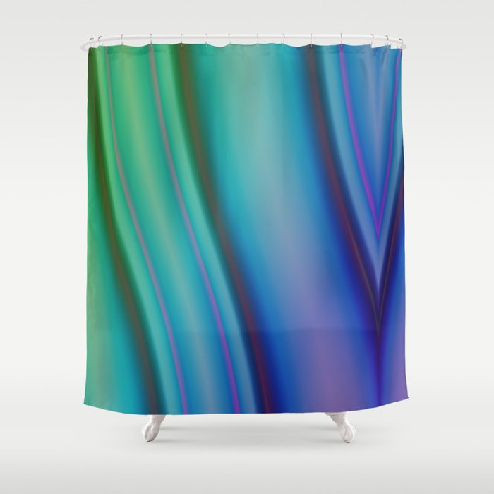 Geometric Pattern Purple And Green Shower Curtain By Christine Baessler Society6