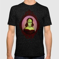Prophets of Fiction - Mary Shelley /Frankenstein Mens Fitted Tee Tri-Black SMALL