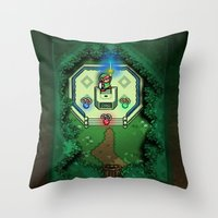 Zelda Link To The Past M… Throw Pillow