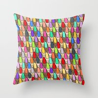 Nails Did - Rainbow Throw Pillow