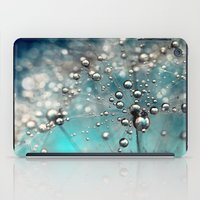 Ocean Blue  and White Dandy Drops iPad Case