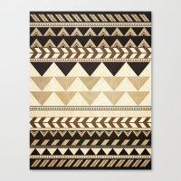 Woodwork Pattern Canvas Print